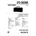 Sony CFD-ZW200S Service Manual