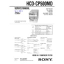 cmt-cp500md, hcd-cp500md service manual