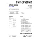 CMT-CP500MD Service Manual