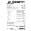 Sony CMT-DH3, CMT-DH5BT, CMT-DH7BT Service Manual