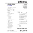Sony CMT-DH30 Service Manual