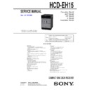 Sony CMT-EH15, HCD-EH15 Service Manual