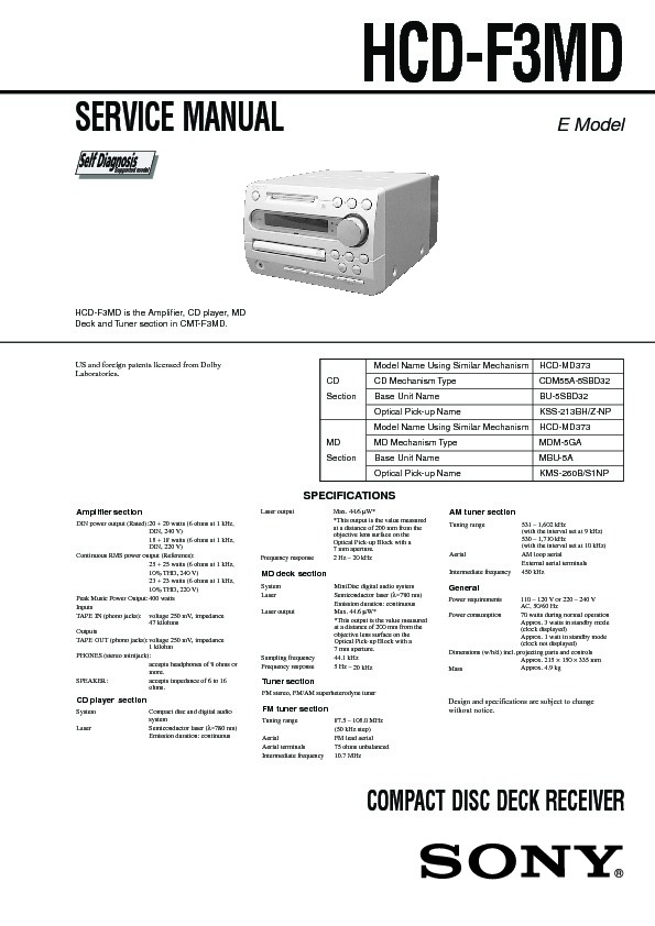 sony cmt-f3md service manual