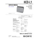 CMT-L1, HCD-L1 Service Manual
