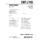 CMT-L7HD Service Manual