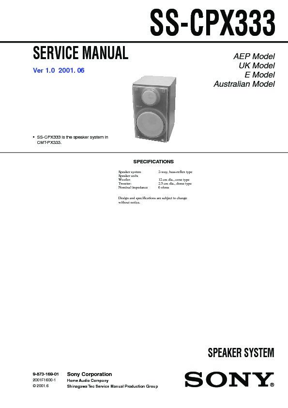 sony cmt-px333  hcd-px333 service manual