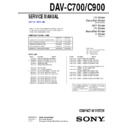 Sony DAV-C700, DAV-C900 Service Manual