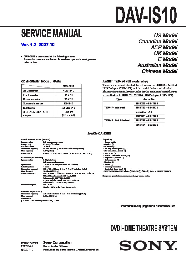 sony home theatre manual download