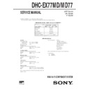 Sony DHC-EX77MD, DHC-MD77 Service Manual