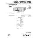Sony DHC-EX880MD, DHC-MD717, MDS-EX880, MDS-MS717 Service Manual
