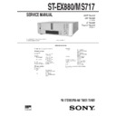 Sony DHC-EX880MD, DHC-MD717, ST-EX880, ST-MS717 Service Manual