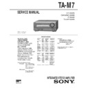 Sony DHC-MD7, ST-M9, TA-M7 Service Manual