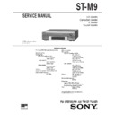 Sony DHC-MD7, ST-M9 Service Manual