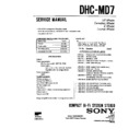 Sony DHC-MD7 Service Manual