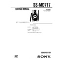 Sony DHC-MD717, SS-MD717 Service Manual