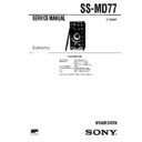 Sony DHC-MD77, MHC-EX66, SS-MD77 Service Manual