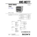 Sony DHC-MD777, HMC-MD777 Service Manual