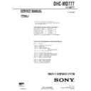 Sony DHC-MD777 Service Manual