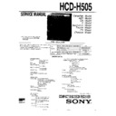 Sony FH-CX55, HCD-H505, MHC-C505 Service Manual