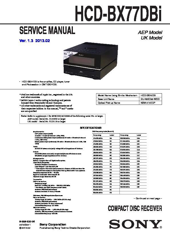 sony hcd bx77dbi service manual free download rh servicemanuals us Sony LX20I Sony LX20I
