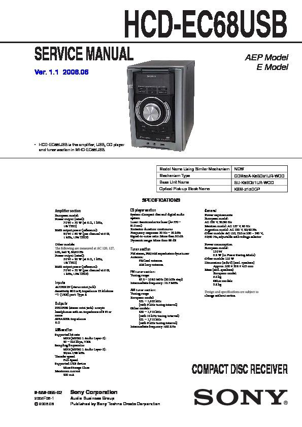 sony hcd ec68usb  mhc ec68usb service manual free download sony mhc-bx2 manual sony mhc v50d manual