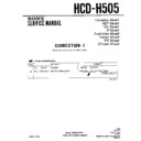 Sony HCD-H505 Service Manual
