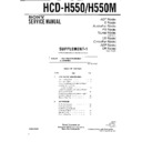 Sony HCD-H550, HCD-H550M Service Manual