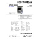HCD-VP800AV, MHC-VP800AV Service Manual
