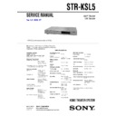 HT-SL5, STR-KSL5 Service Manual