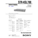 Sony HTP-2000, HT-SL700, STR-KSL700 Service Manual