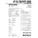 Sony HTP-2000, HT-SL700 Service Manual