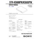 Sony HTP-32SS, HT-SF800M, STR-KS600PM, STR-KS600PW Service Manual