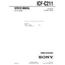 Sony ICF-C211 Service Manual