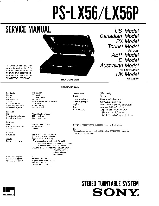 Sony Lbt-a295  Lbt-d550 Service Manual