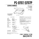 Sony LBT-D507, LBT-D607, LBT-D607CD, LBT-D759CD, PS-D707, PS-D707P Service Manual