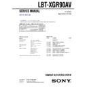 Sony LBT-XGR90AV Service Manual