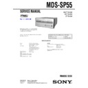 mds-sp55 service manual