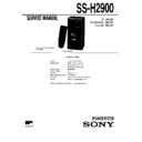 Sony MHC-2900, MHC-E60X, SS-H2900 Service Manual