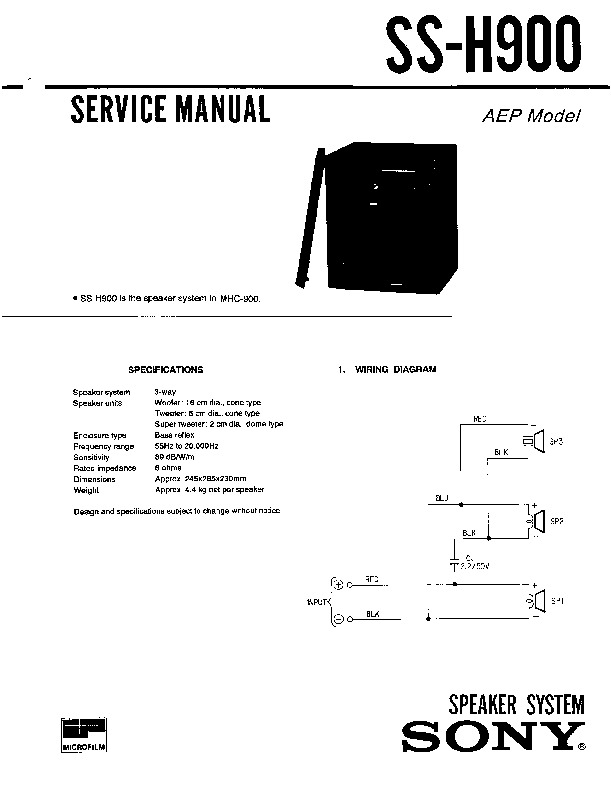 sony hcd-h900  mhc-900 service manual