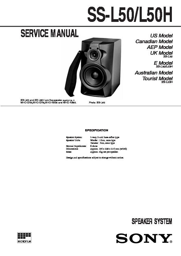 Sony Hcd-gr5  Hcd-rx50  Mhc-gr5  Mhc-rx50 Service Manual