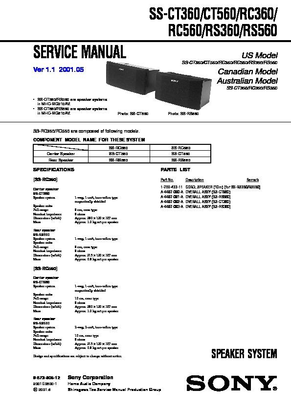 Sony Hcd-mg110  Hcd-mg310av  Mhc-mg110  Mhc-mg310av Service Manual