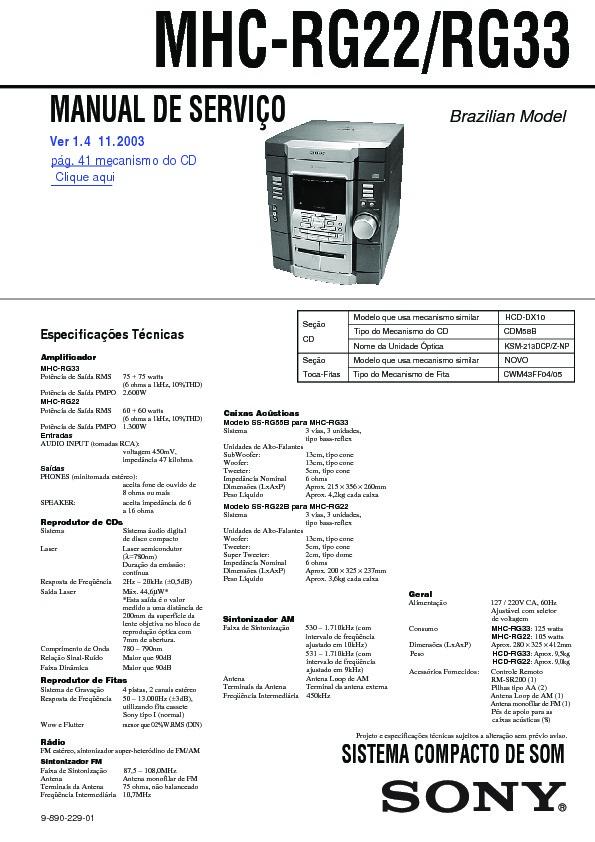 sony mhc gx30  mhc rg22  mhc rg33 service manual free download sony mhc-v7d manual sony mhcecl99bt manual