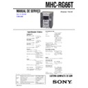 MHC-RG66T Service Manual