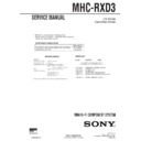 Sony MHC-RXD3 Service Manual