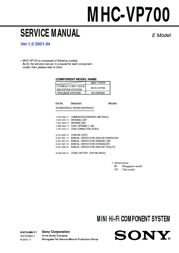 sony mhc vp700 service manual free download rh servicemanuals us manuel spanish name meaning Risk Manual Spanish