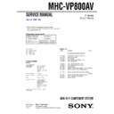 mhc-vp800av service manual