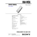 nw-ms6 service manual