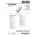 nw-ms9 service manual