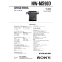 NW-MS90D Service Manual