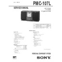 Sony PMC-107L, PMC-20L Service Manual